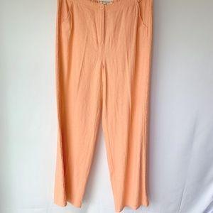 Coldwater Creek Light  Peach Linen Pants
